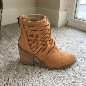 Free People Carrera Heel Boot 38 Euro Brown